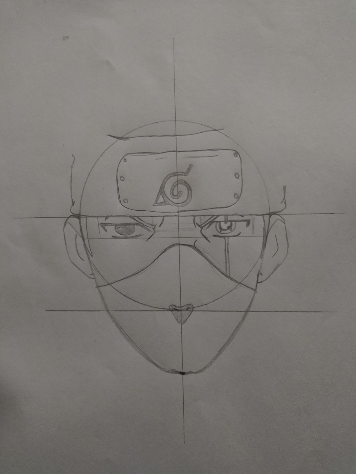 Passo 13 - How to Draw Kakashi - Drawing Kakashi with Exclusive and Easy Method