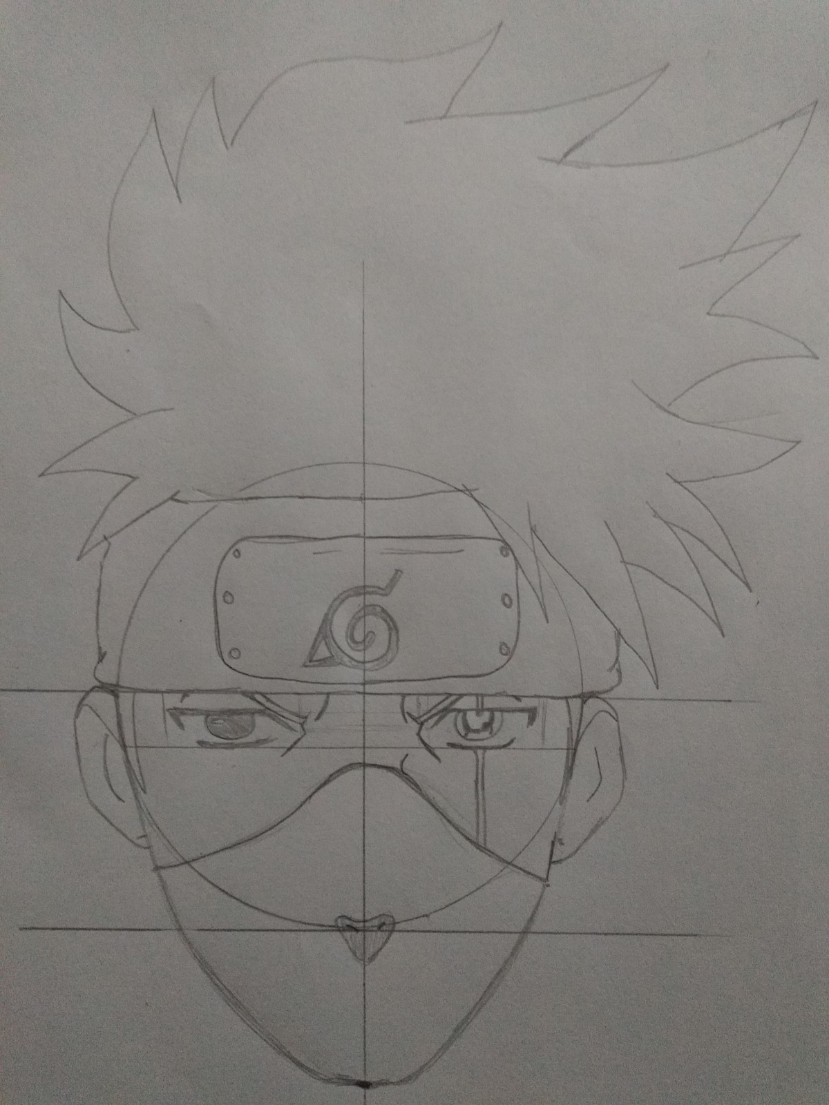 Passo 14 - How to Draw Kakashi - Drawing Kakashi with Exclusive and Easy Method