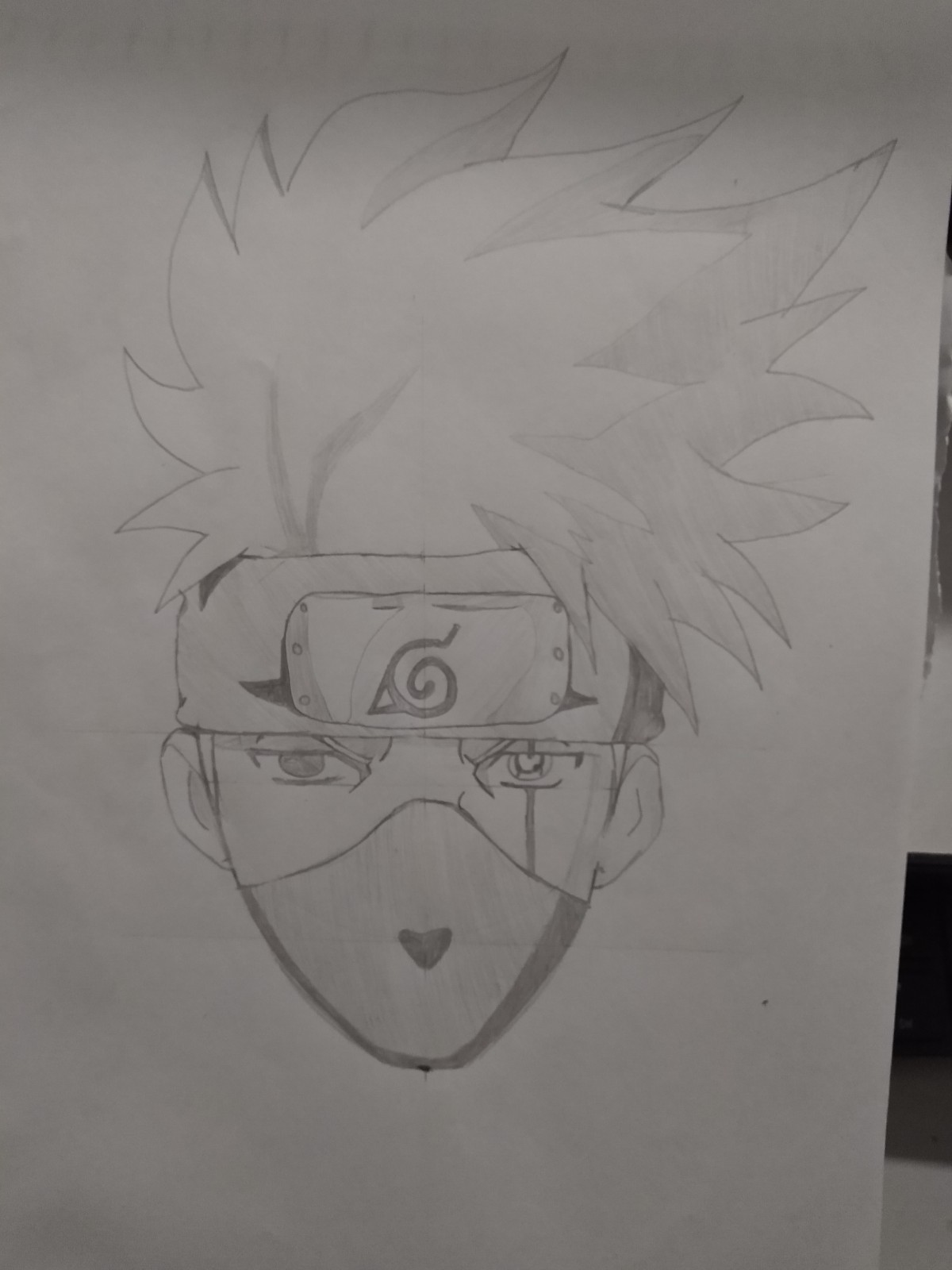 Passo Final - How to Draw Kakashi - Drawing Kakashi with Exclusive and Easy Method